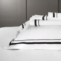 Cavendish Flat Sheet, White/Black, Double
