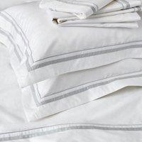 Cavendish Flat Sheet, White Silver, King