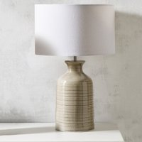 Ceramic Bottle Table Lamp, Natural, One Size
