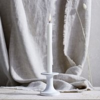 Ceramic Dinner  Small Candlestick         , White, One Size