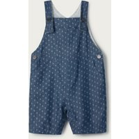 Chambray Anchor Dungarees, Blue, 12-18mths