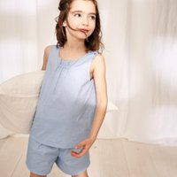 Chambray Shortie Pyjamas (1-12yrs), Blue, 7-8yrs