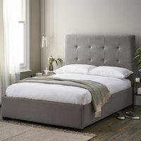 Charlton Cotton Bed, Grey Cotton, Super King
