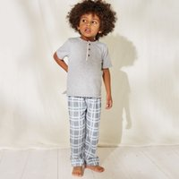 Check Pyjama Bottoms (1-12yrs), Blue, 11-12yrs