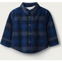 Checked Borg-Lined Jacket, Blue Check, 9-12mths