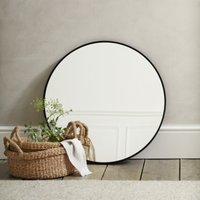 Chiltern Small Round Mirror, Black, One Size
