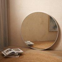Chiltern Thin Metal Round Mirror, White, One Size