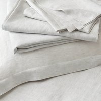 Clarendon Deep Fitted Sheet, Grey Stripe, Super King