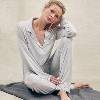Classic Jersey Pyjama Set, Cloud Marl, Medium