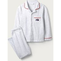 Classic Jersey Tractor Pyjamas (1-12yrs), Grey White, 1-1 1/2yrs