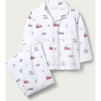 Classic London Pyjamas (1-12yrs), White Blue, 1 1/2-2yrs