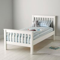 Classic Single Bed, White, Single
