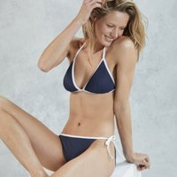 Colourblock Bikini Briefs, Navy/White, 12
