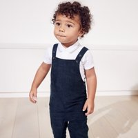 Cord Dungarees, Navy, 9-12mths