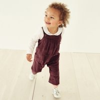 Cord Dungarees with Toy, Plum, 0-3mths