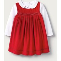 Cord Pinafore & Bodysuit Set, Red, 12-18mths