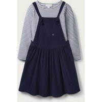 Cord Pinafore & Stripe T-shirt Set (1-6yrs), Navy, 5-6yrs