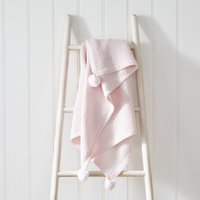 Cotton-Cashmere Pink Baby Blanket, Pink, One Size