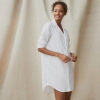 Cotton Classic Nightshirt, White, Medium