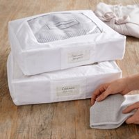 Cotton Storage Bag – Set of 2, White, One Size