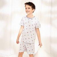 Crab Pyjamas (1-12yrs), Blue Stripe, 9-10yrs