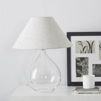 Cranley Glass Teardrop Table Lamp, Natural, One Size