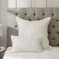 Cushion Cover, White Grey, Small Rectangle