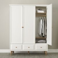Ercol Devon Large Wardrobe, White, One Size