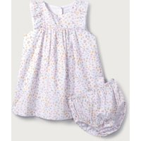 Delphine Floral Dress, White, 3-6mths