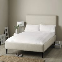Dulwich Linen Union Bed - Dark Stained Beech Leg, Natural Linen Union, Double