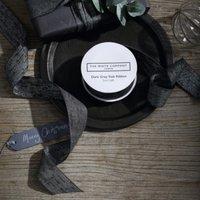 Dark Grey Slub Ribbon - 5m, Dark Grey, One Size