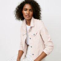Denim Jacket, Petal Pink, 10