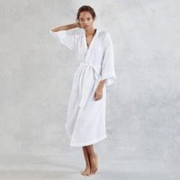 Double-Cotton Robe, White, Medium
