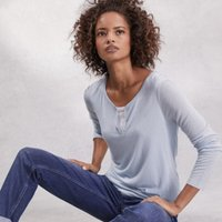 Double Layer Top, Heather Blue, 12