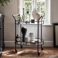 Drinks Trolley , Black, One Size