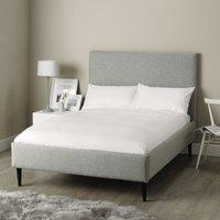 Dulwich Wool Bed - Natural Oak Leg, Light Grey Wool, Double