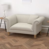 Earlsfield Cotton Love Seat, Silver Cotton, One Size
