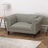 Earlsfield Cotton Love Seat, Grey Cotton, One Size