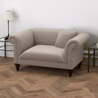 Earlsfield Velvet Love Seat, Stone Velvet, One Size