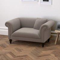 Earlsfield Velvet Love Seat, Silver Grey Velvet, One Size