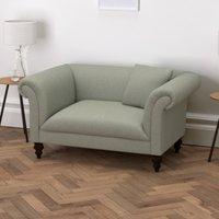 Earlsfield Wool Love Seat, Light Grey Wool, One Size
