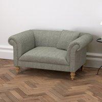 Earlsfield Tweed Love Seat, Tweed Mid Grey, One Size
