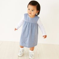 Embroidered Dress & Bodysuit Set, Chambray, 18-24mths