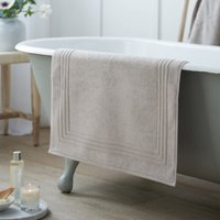 Egyptian Bath Mat, Pearl Grey, Medium