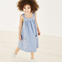 Embroidered Chambray Dress (1-6yrs)