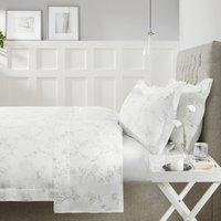 Émilie Linen King Duvet Cover, Chalk, King