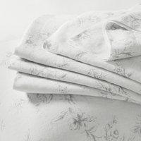 Émilie Linen Double Flat Sheet , Chalk, Double