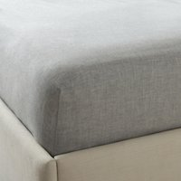 Evesham Deep Fitted Sheet, Charcoal Grey, Double