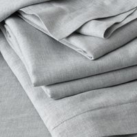 Evesham Flat Sheet, Charcoal Grey, Double