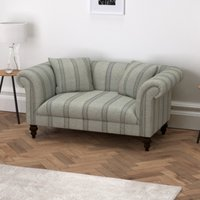 Earlsfield Stripe Natural Oak Legs Sofa, Stripe, One Size